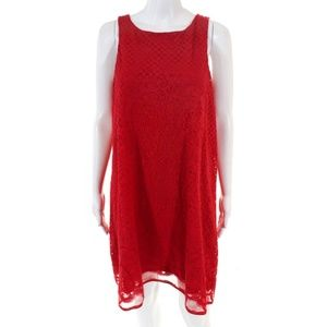 NEW Max Studio Red Lace A-Line Dress Size Small